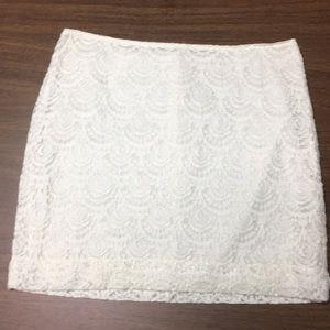 White Banana Republic A line skirt